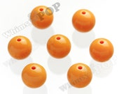 20mm - 100 PACK Fruity Orange Gumball Beads, Bulk Gumball Beads, Wholesale Gumball Beads, Wholesale Chunky Beads, 20mm Beads, 2mm Hole