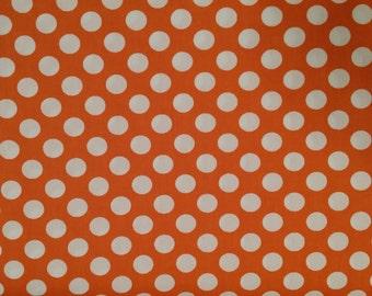 Orange and White Polka Dot Fabric Finders polkadot  FFPDF