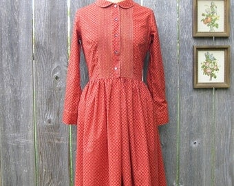 Vintage 50's MAD ABOUT MEDALLIONS Shirtwaist Dress