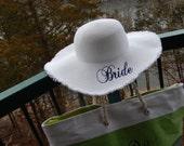 Engagement Gift, Bride Floppy Hat, Beach Wedding