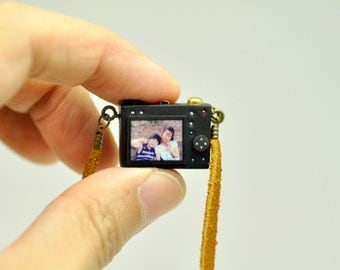 Personalized necklace Compact Camera miniature / Personalized gift / Personalized necklace