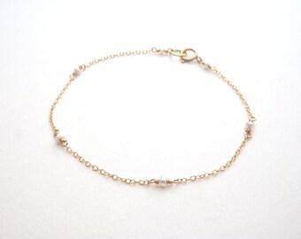 Freshwater Pearl Satellite Bracelet - 14k Gold Fill