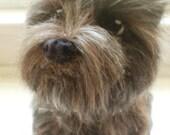 Cairn Terrier Artist Needle Felted Cairn Terrier Sculpture OOaK Skye Custom Terrier Sculpture