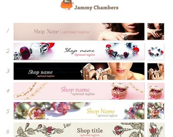 Shop icon and Banner - Choose Your Favorite - Beaded Jewelry Pearls Beads Glamour Shop theme