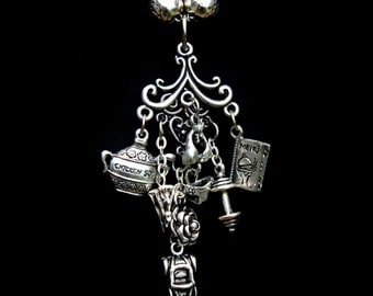 Kate Daniels Theme Charm Necklace - Shape Shifter - Vampire - Magic - Urban Fantasy - Kate & Curran - Character Pendant - Book Swag