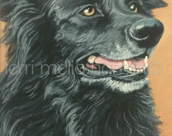 Dog Portrait, 8x10 Pet Portrait, Custom Pet Portrait, Painted Pet Portraits, Dog Portrait Custom, Acrylic Painted Portrait