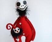 Spooky Santa - Spooky Christmas - Spooky Snowman - Santa Skeleton - Made to Order