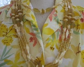 Corn Silk Yellow  Glass Necklace