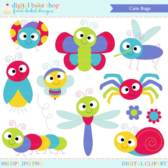 bugs clipart insects clip art ladybug lady bug bee butterfly - Cute Bugs Clipart
