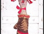 Folk Art Christmas Raggedy Annie Ann Mitten Doll Hanger Shelf Sitter WANDA FosterChild Whimsy