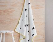 Baby Blanket /Bears Custom baby blanket, soft baby blanket, baby shower girls gift,  newborn baby blanket, unisex,