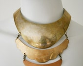 Scalloped Metal Handmade Necklace - New Price!