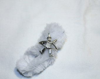 Super Cute 925 Sterling Silver Moveable Clown Ring - Size 8
