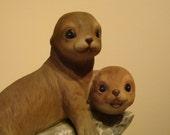 Seals Figurine by Homco Porcelain