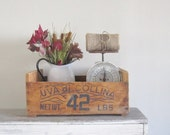 Large Vintage Wood Advertising Crate - Farmhouse Storage