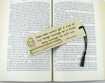 Wooden Bookmark - Hand Pyrography - CS Lewis Book Quote