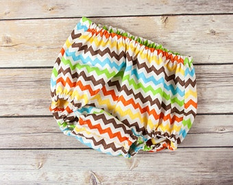 Chevron Diaper Cover  Baby Boy Birthday Cake Smash Newborn Photo Prop Little Man Turquoise Blue Brown Yellow Orange Lime Green