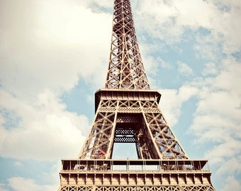 Eiffel Tower photo, oversized art, Paris print, Eiffel tower print, Eiffel Tower canvas, oversized print
