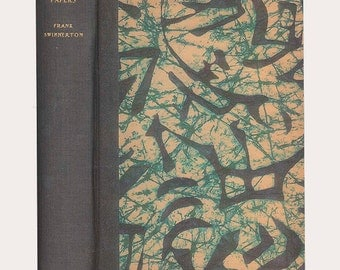 Abstract Expressionist Batik Design on Cover of Tokefield Papers by Frank Swinnerton, The First American Edition Vintage Book