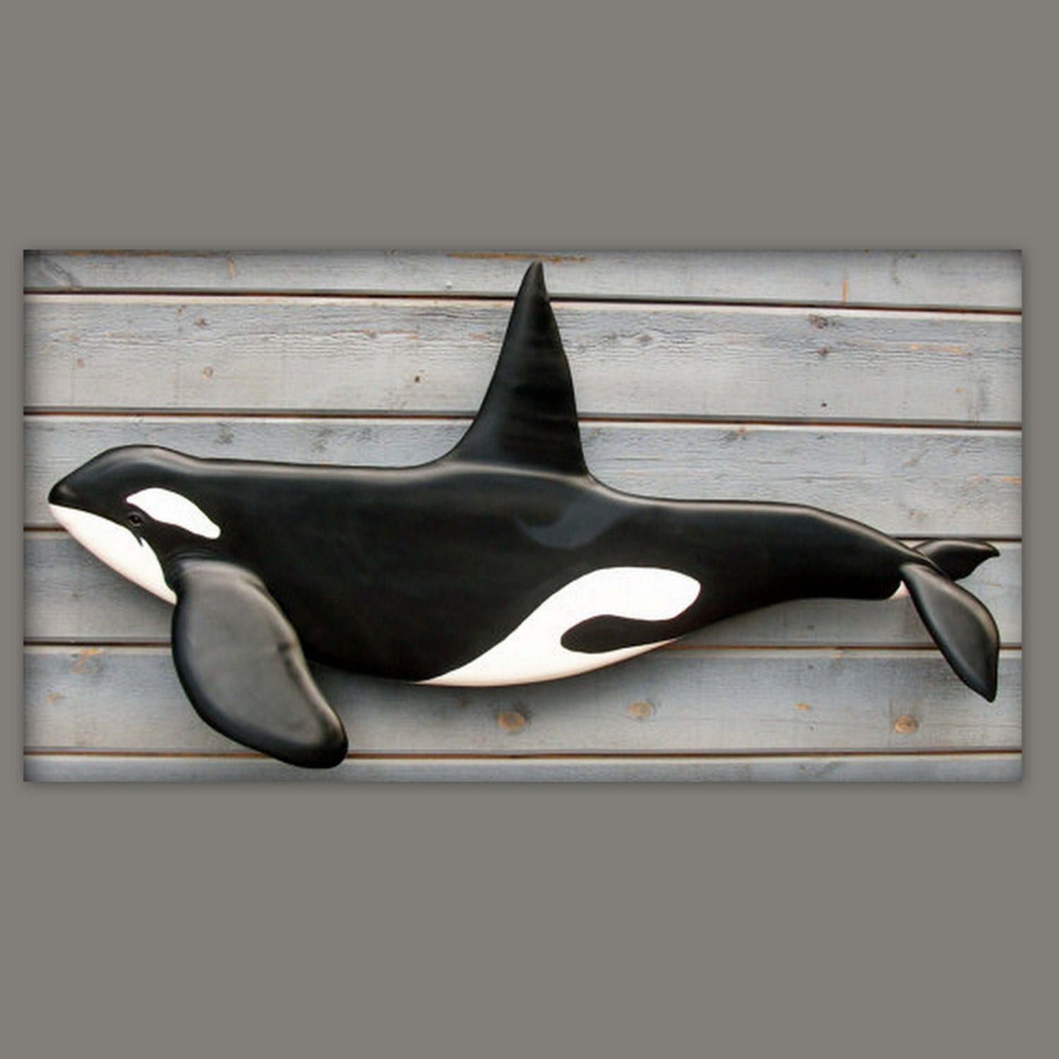 Killer Whale Wood Art 40 39 39 Wood Carving Sculpture