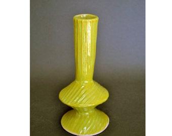 Handmade Ceramic Vase, Opal Green Tulip Vase, Flower Vase