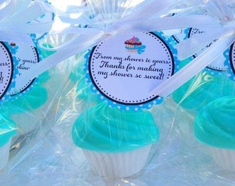 10 CUPCAKE SOAPS {Favors} - Birthday Party Favor, Cupcake Soap Favor, Wedding Cake Favor, Cupcake Birthday Theme