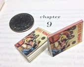 Miniature Vintage Book / Little Women by Louisa May Alcott / Tiny Book with real blank pages / 1:6 scale mini book / playscale / sixth scale