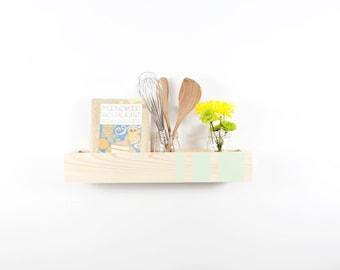 Box Shelf Wall Organizer - Modern Stripes - Vertical Garden, Kitchen Shelf, Book Shelf, Bathroom Storage - Custom Colors - 22 INCH