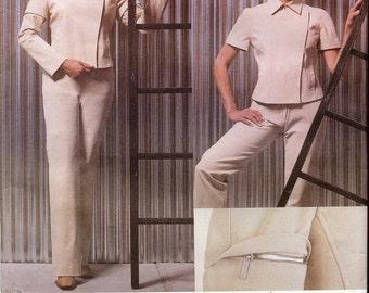 UNCUT Vogue American Designer CALVIN KLEIN Pattern 2588 - Misses Jacket & Pants - 14-18