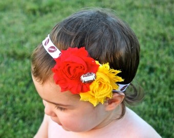 Football Headband- Football Baby Headband - 49er Headband - Pick Team Colors
