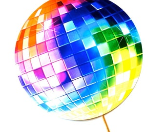 "Disco Ball Photo Booth Prop - LARGE 10.5"" prop - Birthdays, Weddings, Parties - Photobooth Props"