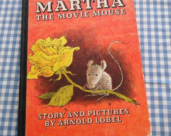 martha the movie mouse, vintage 1966 children's book
