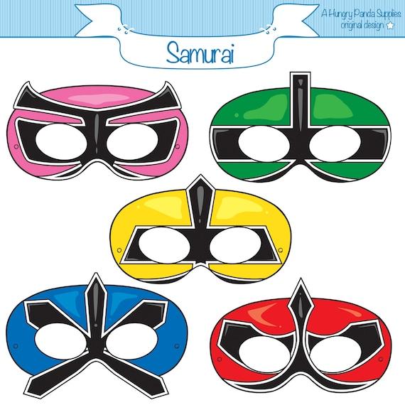 Ranger samurai printable masks samurai mask ranger party - Masque de power rangers ...