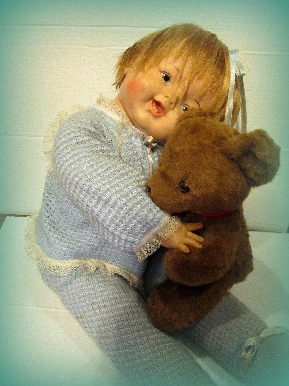 Large Vintage Doll Madame Alexander 26 Huggums Eloise