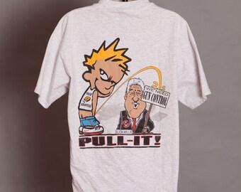 Funny Bill Clinton Tshirt - Slick Willie - Conservative - PULL-IT - L