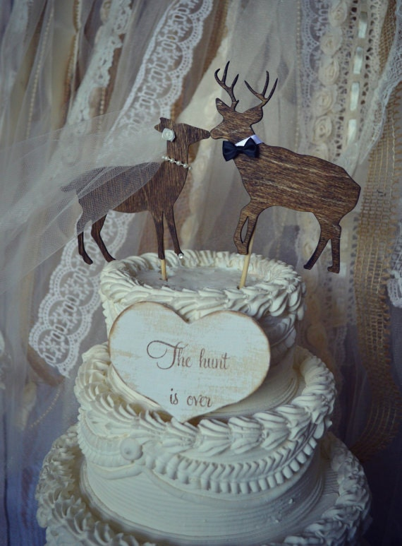 buck and doe wedding cake toppers deer buck and doe wedding cake topper deer 12203
