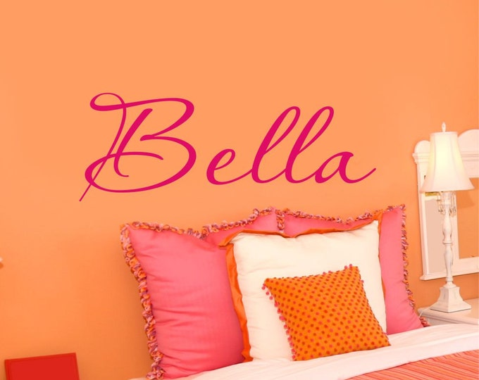Personalized Name Sticker Custom Girls Name Decal Name Wall Decal Girls Bedroom Decor Teen Wall Art  Nursery Decal