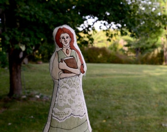 """Anne of Green Gables Art Doll. """"A Queen's Girl."""" Handpainted doll by alyparrott on Etsy."""