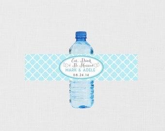 Wedding Water Bottle Labels - Personalized Water Bottle Labels - Wedding Date Water Bottles - Wedding Water Bottle Labels Custom - Printable