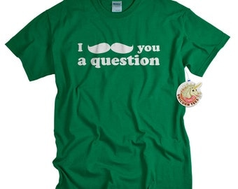 Mustache Shirt Funny Moustache Shirt for mustache party or birthday gift Tshirt for Men Women and Teens