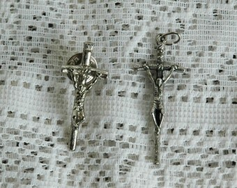 Vintage Cross Pendant and Tac Pin Detailed Mint
