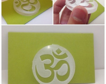 Soap Stamp Om Symbol Yoga Style acrylic stamp A001