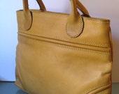 Vintage Boho Tano Butterscotch Heavy Leather Satchel
