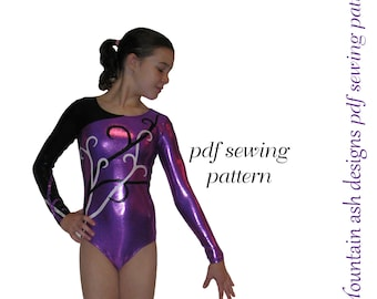 Leotards 5 pdf sewing pattern Gymnastics Dance rhythmic gym