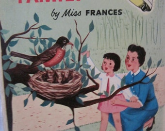 Vintage The Robin Family by Miss Frances Ding Dong School Book,