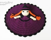 Witch Lovey CROCHET PATTERN instant download - blankey, blankie, security blanket