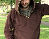 Ready to ship XXL - Hoodie for Men -  Medieval hoodie - elven hoodie -Psy clothing- pointy hood