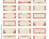 Mason Jar Blank Labels Vintage Canning Printable Digital Collage Sheet