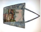 Upcycled Tapestry Tote with Vintage Needlpoint