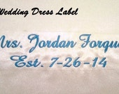 Custom Wedding Dress Label Personalized Tag